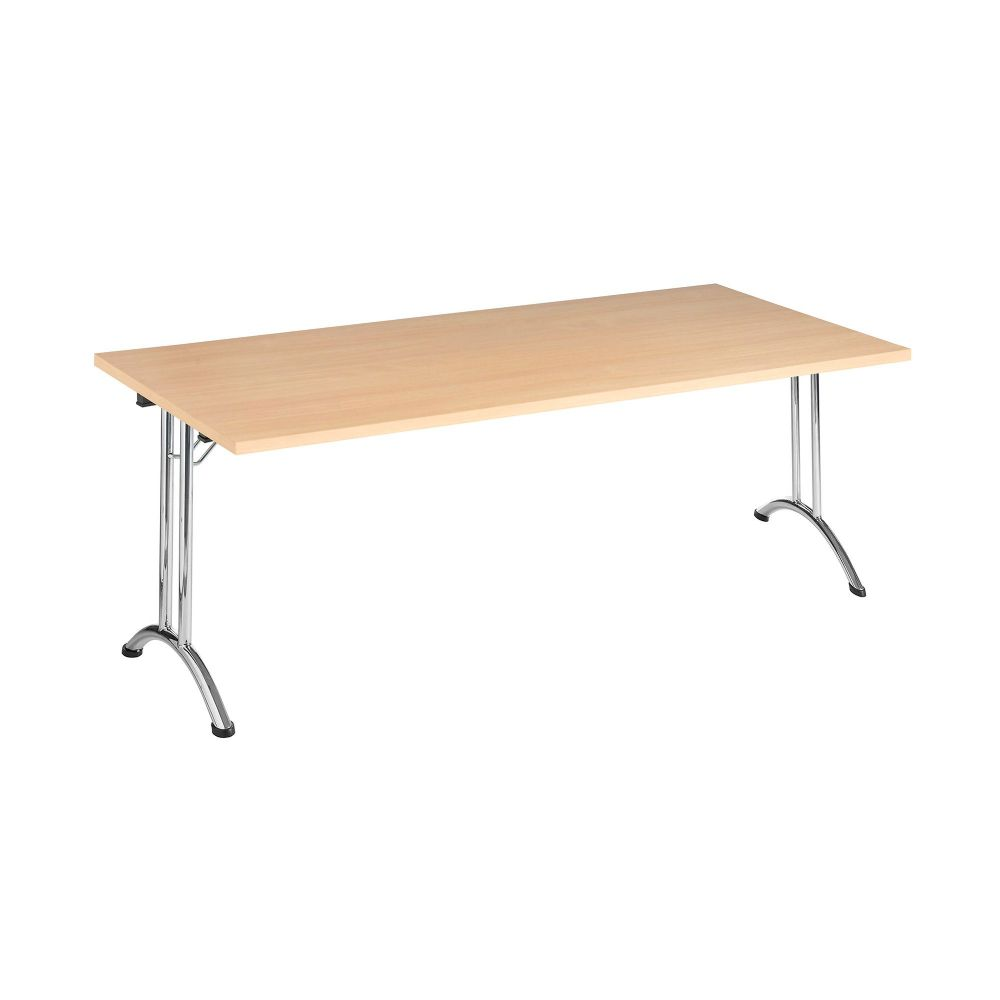 Rectangular Folding Table 1600mm, Chrome Frame with various Top Colours RF04FDT-003